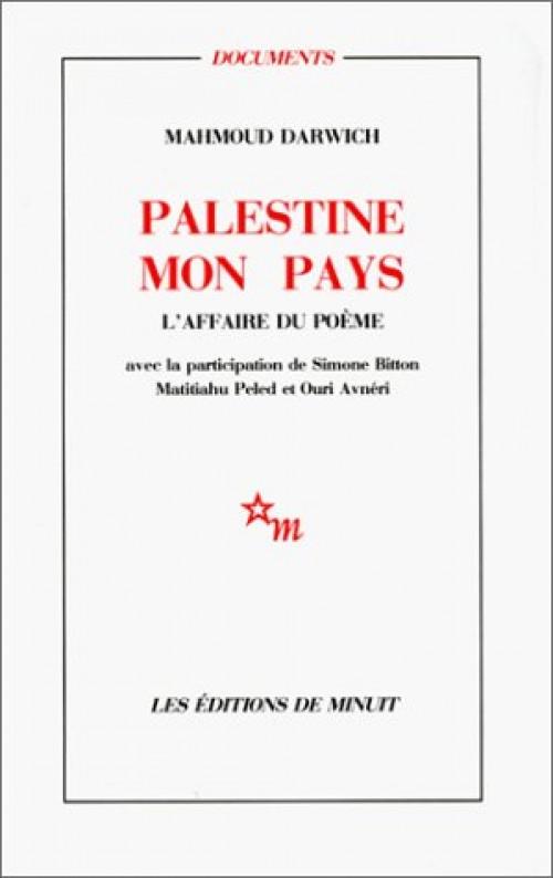 Palestine Mon Pays Editions De Minuit