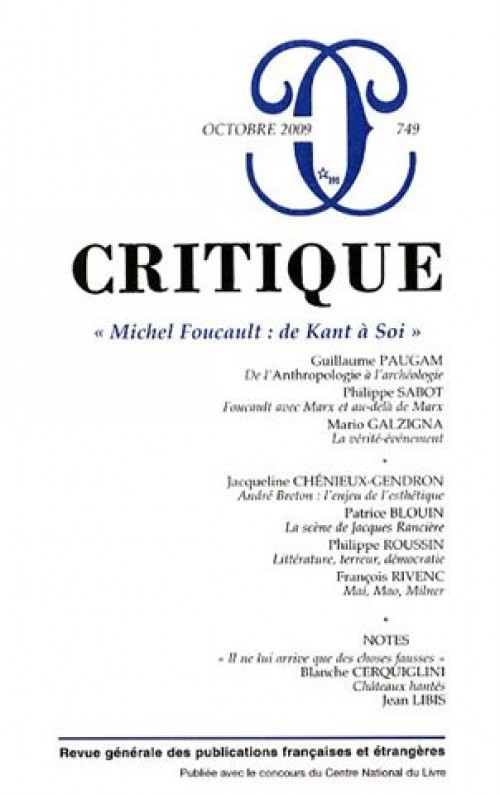 foucault and kant 2011-06-09  18 s panneerselvam successive power struggles, which are discontinuous foucault who emerged two centuries after kant observes the continuity of his post-nietzschean genealogy with the classical critique of reason he says: i.