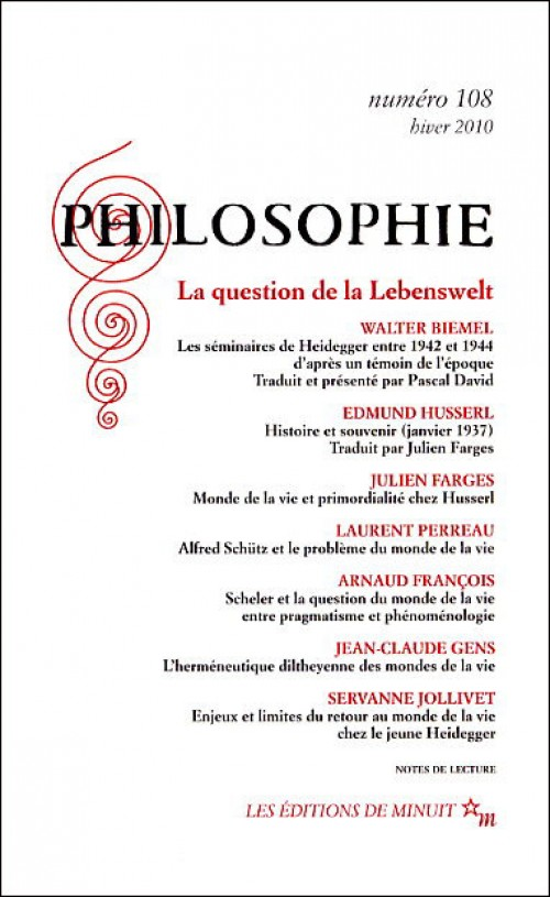Turbo Philosophie n° 108 : La Question de la Lebenswelt TA23